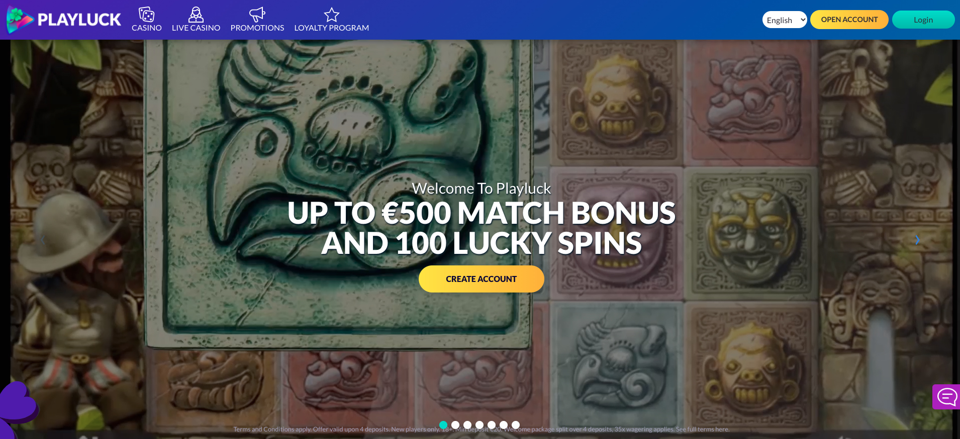Playluck Online Casino Review